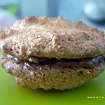 recette faux macarons noix de coco - nutella