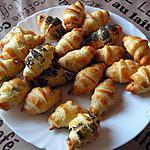 recette croissants à la tapenade et à la confitade de tomate