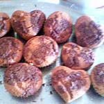 recette Financier tigrés (dans des moules à muffins)