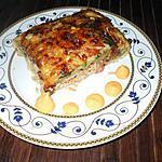 recette Gratin de courgettes..jambon et riz....( Menu complet pour les petits ...)