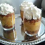recette Verrines aux pommes et gaufrettes de Bretagne