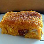 recette Gratin de butternut au tofu soyeux, maïs, tomates sèchée et fourne d'ambert