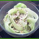 recette Tagliatelles de concombres et éclats de noisettes