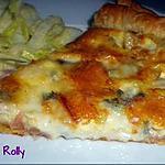 recette Tarte gorgonzola et jambon de Parme