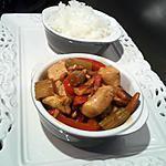 recette Poulet  sauté aux noix de Cajou et son riz Thaï