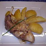 recette lapin aux deux pommes
