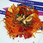 recette Salade carotte, mangue, poivron