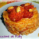 recette Risotto chorizo cacahuètes