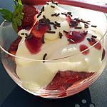 recette Fraises au mascarpone et chantilly