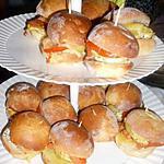 recette Mini burger au poulet