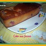 recette cake aux fraises