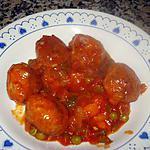 recette ALBONDIGAS CON SALSA DE TOMATE (BOULETTES EN SAUCE TOMATE)