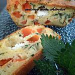 recette cake aux orties, tomate, et chevre