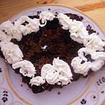 recette Parfait de chocolat sur fond  de cookies nougatines..parfumé au rhum...