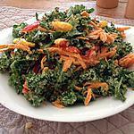 recette Salade de Kale crémeuse et fruitée
