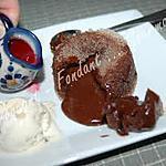 recette Moelleux au chocolat amer