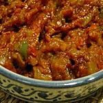 recette Caviar d'aubergine à la marocaine de ma maman