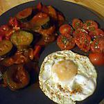 recette Plato combinado...N°4  ( Frita ...oeuf et tomates cerises...)