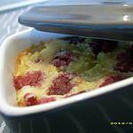 recette minis clafoutis aux framboises et grand marnier