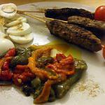 recette Plato combinado N°5...( Salade de poivrons grillés.... keftas....oeufs durs au cumin...)