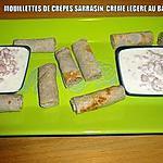 MOUILLETTES DE CRÊPES SARRASIN, CRÈME LÉGÈRE AU BACON