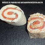 recette ROULES DE PAIN DE MIE AU SAUMON RICOTTA ANETH