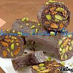 recette Saucisson chocolat, speculos et pistaches