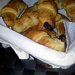 Croissants au chocolat feuilleté