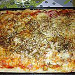 recette pizza  jambon,champignon et fromage
