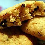 recette Cookies nougatine, beurre de cacahuète et pépites de chocolat