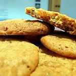 recette Cookies nougatine, miel et écorces d'oranges confites