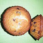 recette muffins choco blanc et pépites de choco noirs