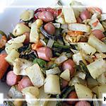 recette Poêlé des légumes- knacks avec l'actifry