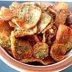 recette chips de topinambours au parpika ou curry