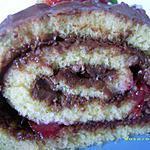 recette petit roulé fraise-nutella