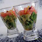 recette petites verrines avocat-saumon fumé (apéro chic)