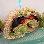 recette wraps au guacamole, jambon fumé et tomates confites (apéro épicé)
