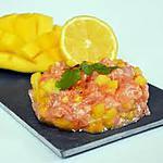 recette tartare de saumon à la mangue