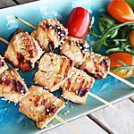 recette Brochettes de saumon Teriyaki