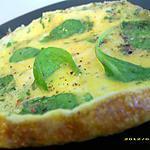 recette petite omelette aux pousses d'épinards