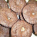 recette muffins choco noirs et coeur fondant choco blanc