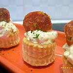 recette bouchées aux crevettes et chorizo (apéro chic)