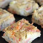 recette Carré au saumon fumé, au chèvre & au l'aneth