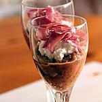 recette Caviar d'aubergines, ricotta & coppa