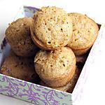 recette Muffins chocolat blanc & pralin à l'huile d'olive