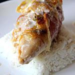 recette Blanc de poulet au bleu de Bresse
