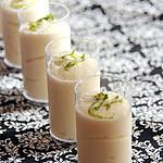 recette Mousse au chocolat blanc & zestes de citron vert
