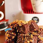 recette Carrés de chocolat croustillant