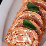recette Roulé à la tomate, saumon & fromage frais