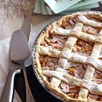 recette Tarte à la compote de kaki vanillée